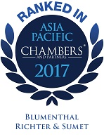 Ranked in Chambers Asia Pacific 2017, Blumenthal Richter & Sumet