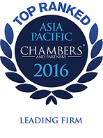 Ranked as a Leading Firm Chambers Asia Pacific 2016, Blumenthal Richter & Sumet