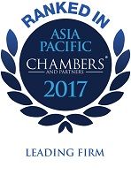 Ranked in Chambers Asia Pacific 2017, Leading Firm