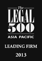 The Legal 500 Asia Pacific, Leading Law Firm 2013