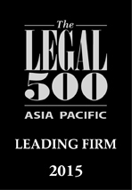 The Legal 500 Asia Pacific, Leading Law Firm 2015