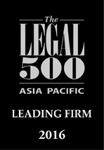 The Legal 500 Asia Pacific, Leading Law Firm 2016